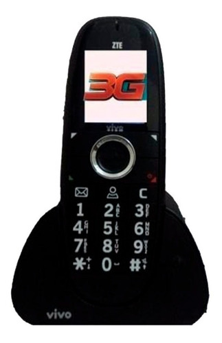 telefone fixo chip 3g zte wp750 claro tim oi vivo, semi novo