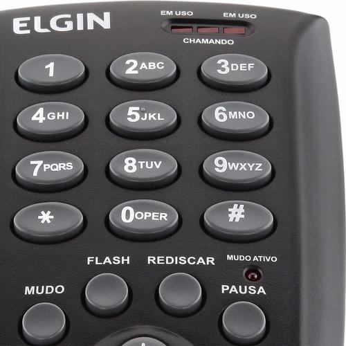 telefone headset fone com microfone elgin modelo hst6000
