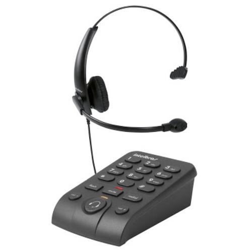 telefone headset intelbras hsb 50 com base discadora teclado