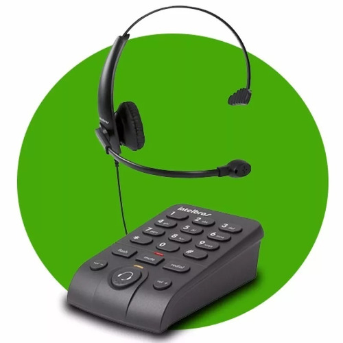 telefone intelbras headset base discadora hsb50