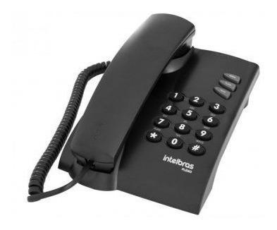 telefone intelbras pleno preto - kit 10 unidades