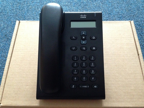 telefone ip cisco voip unified sip cp-3905 - novo na caixa