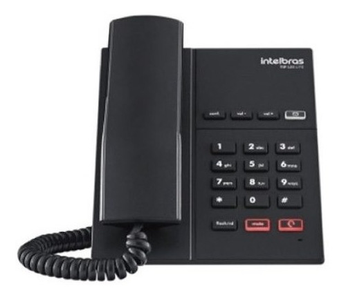 telefone ip voip intelbras tip 120 lite teclado com led full