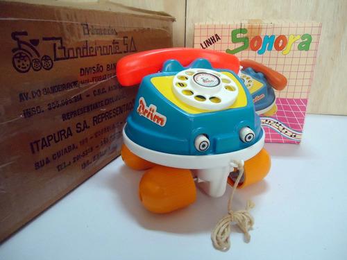 telefone linha sonora bandeirantes dec. de 70 sem uso