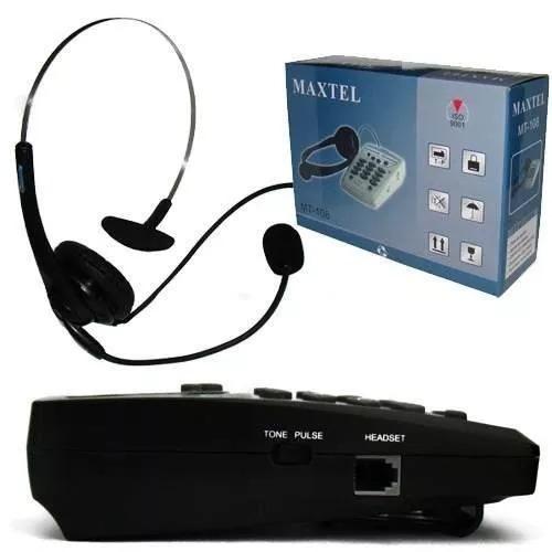 telefone maxtel headset mt-108 head set head 7 telemarketing