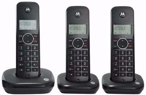 telefone motorola sem fio 3 bases moto 500id-3 identif. bina