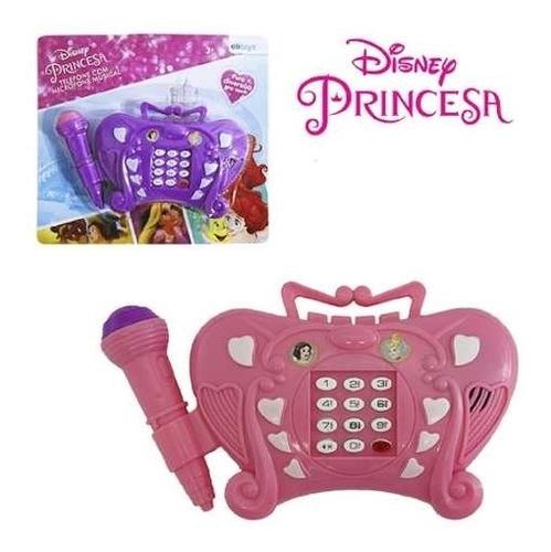 telefone musical infantil princesa disney microfone brinqued