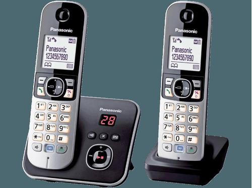 telefone panasonic kx-tg6822 duo c/ secretaria eletronica