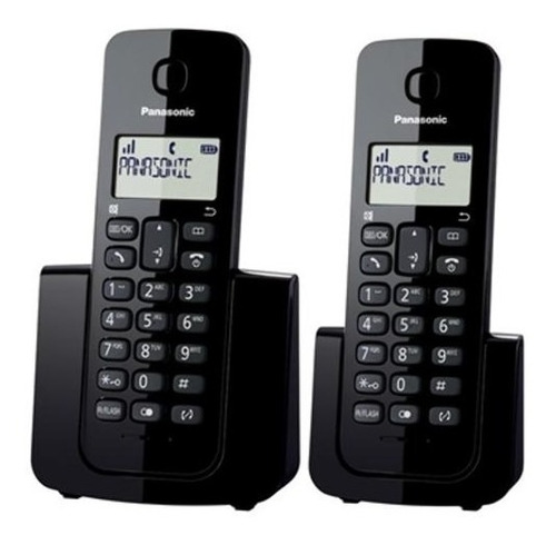 telefone panasonic kx-tgb112lbb + 1 ramal pronta entrega