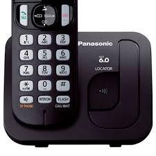 telefone panasonic s/ fio c/ viva voz kx-tgc210lbb teclado l