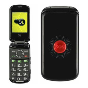 Telefone Para Idoso Flip Botão Sos Dl 130 2chips Fm Lanterna