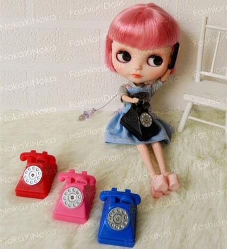 telefone retrô para boneca blythe pullip dal * com som !!