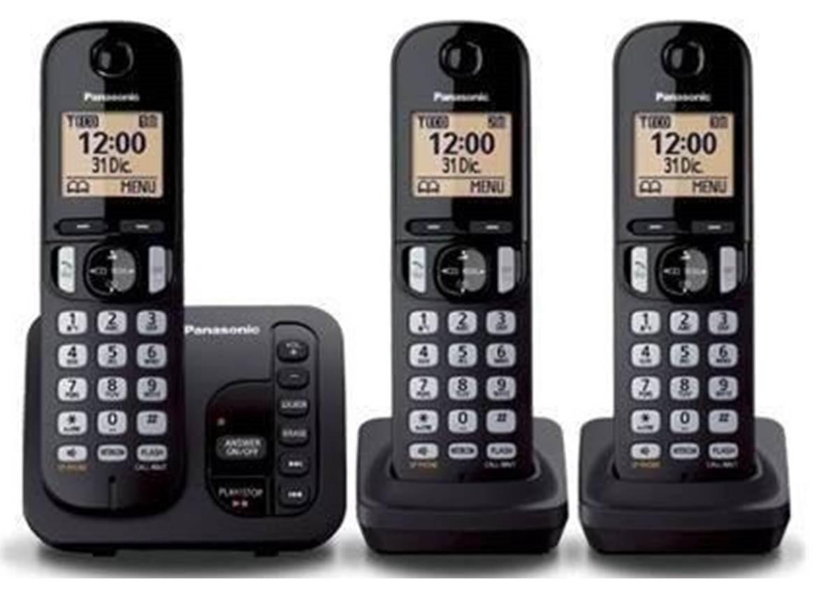 f4c1b51bc telefone s  fio panasonic kx-tgc223 base+2 ramais secretária. Carregando  zoom.