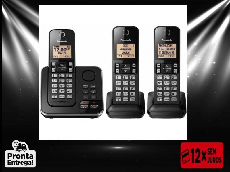 11ca9672d telefone s  fio panasonic kx tgc363 sec.eletronica + 2 ramal. Carregando  zoom.