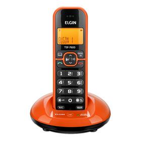 Telefone Sem Fio Elgin Tsf-7600 Laranja