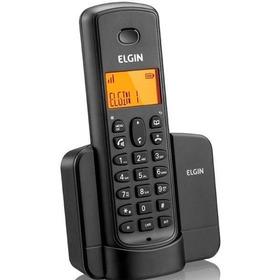 Telefone Sem Fio Identificador Viva Voz Tsf8001 Preto Elgin