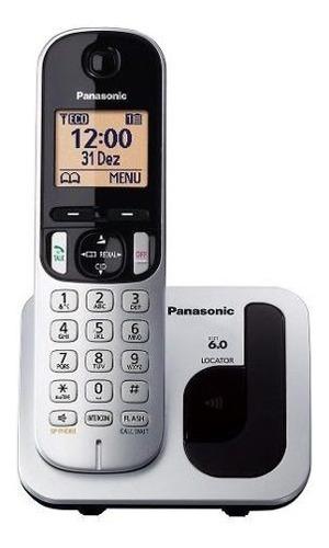 telefone sem fio kx-tgc212lb1 prateado panasonic