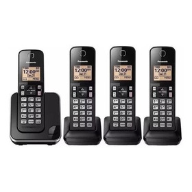 Telefone Sem Fio Panasonic Com 4 Ramais Kx-tgc350, Viva Voz, Bina, Bloqueador De Chamadas Indesejadas, Backup De Energia