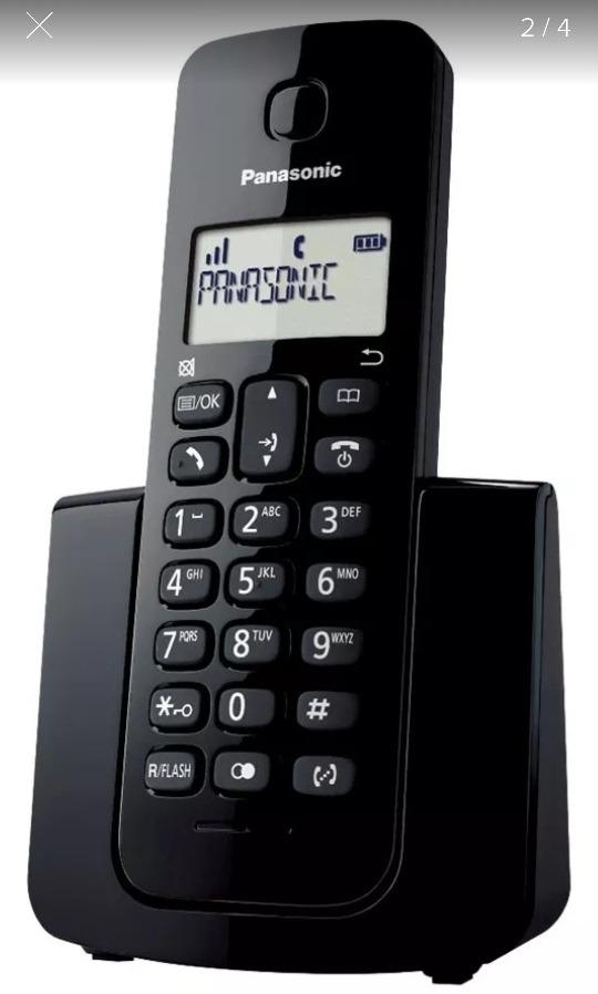 0ace8f9ac telefone sem fio panasonic dect 6.0 kx tgb 110 lbb preto. Carregando zoom.