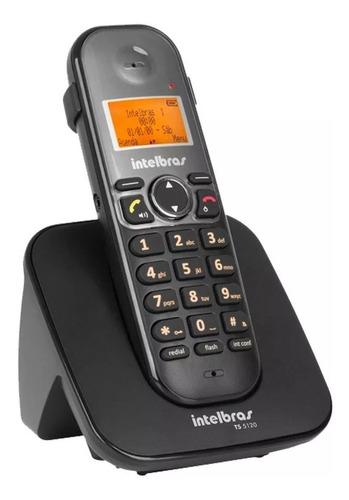 telefone s/fio intelbras ts5120 pt c/viva voz e id chamada