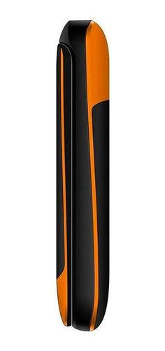 telefone simples idosos dl 230 flip laranja câmera 2 chips