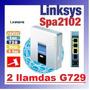 Ata Voip Sip Linksys Spa 2102 X 2 Llam G729+router Pc Spa112