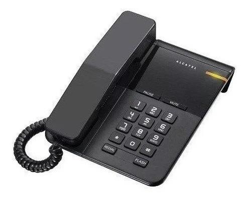 telefono alambrico color negro