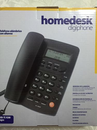 teléfono alámbrico con altavoz homedesk