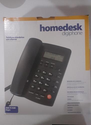 teléfono alambrico con altavoz (marca homedesk) mod: tc-9200