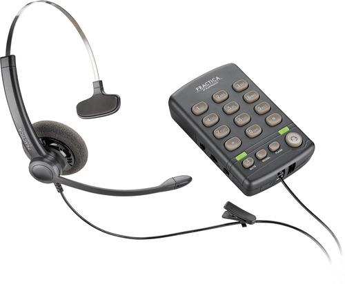 telefono alambrico con diadema plantronics t110