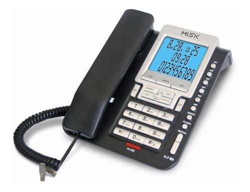teléfono alámbrico con identificador mt888 misik negro