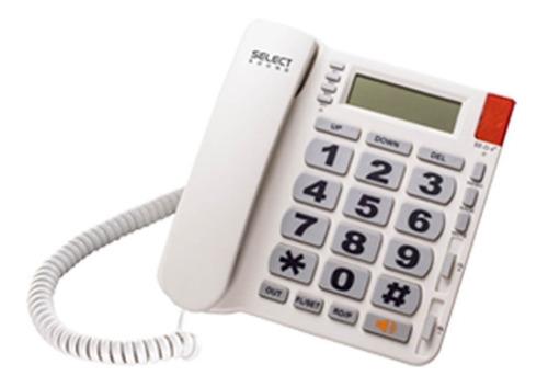 teléfono alámbrico con identificador select sound blanco