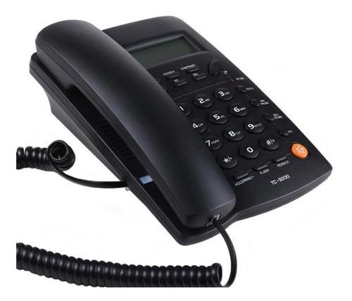 telefono alambrico con pantalla homedesk tc-9200 negro
