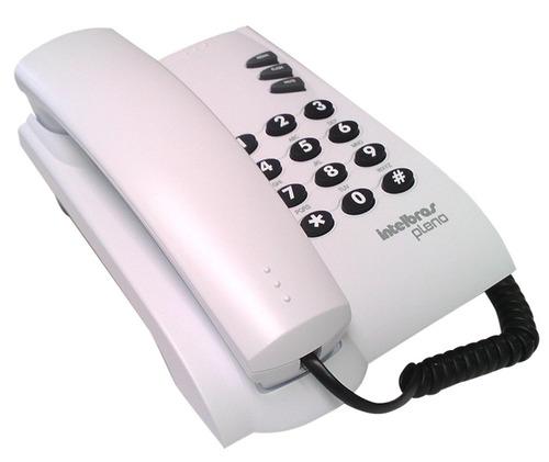 telefono alambrico intelbras pleno blanco
