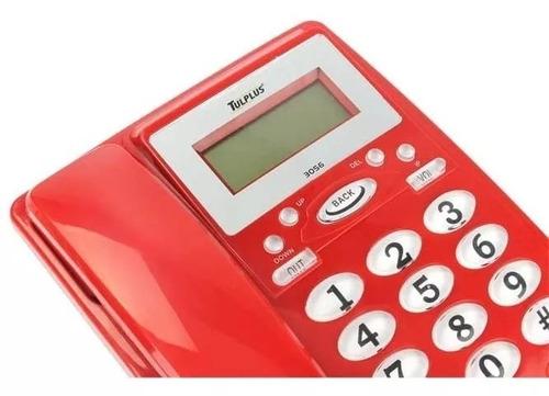 telefono alambrico pantalla digital alarma altavoz c2s