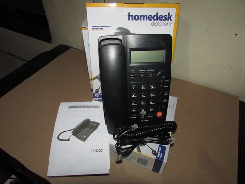 telefono alambrico tc-9200 homedesk digiphone pantalla