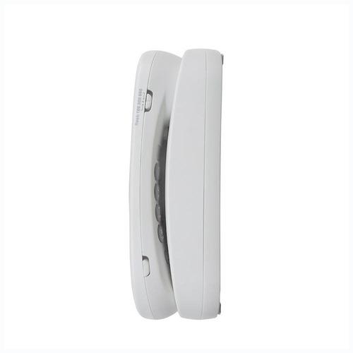 telefono alambrico vtech clio10w de mesa basico blanco