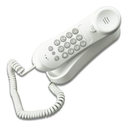 telefono alambrico vtech clio10w de mesa basico blanco sin e