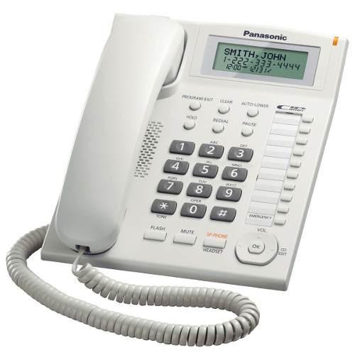 teléfono analógico panasonic - analógica, pared, color blan