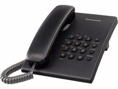 teléfono analógico panasonic kx-ts500meb, analógica, escrito