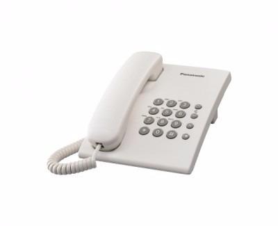 teléfono analógico panasonic kx-ts500mew, analógica, escrito