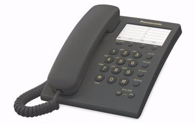 teléfono analógico panasonic kx-ts550meb, analógica, escrito