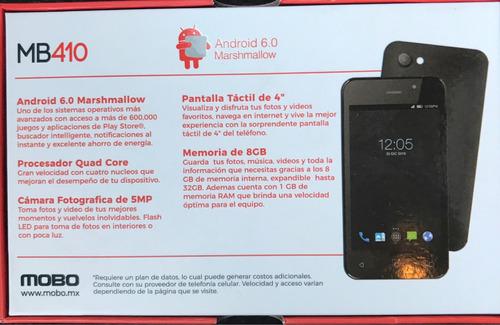 teléfono android celular barato mobo mb410 8gb rom 1gb ram 4