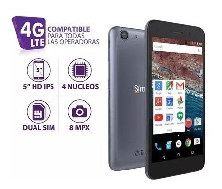 telefono android siragon sp-5200 dual sim 4g 8mpx plateado
