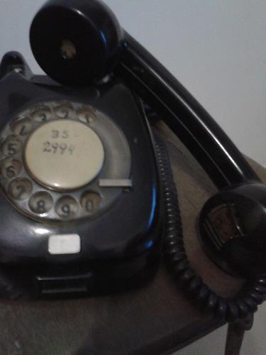telefono antiguo a disco negro baquelita oferta