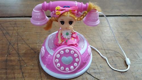 telefono antiguo con luz y sonido pumy july toys