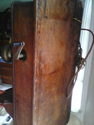 teléfono antiguo de pared marca kellog de:1901 completo