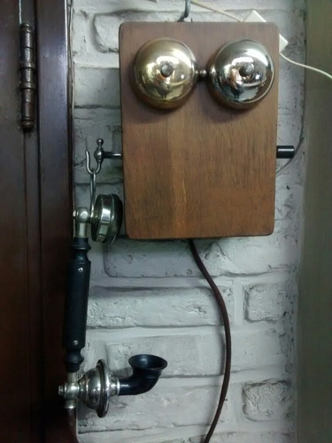 teléfono antiguo ericsson de pared mod.ab124