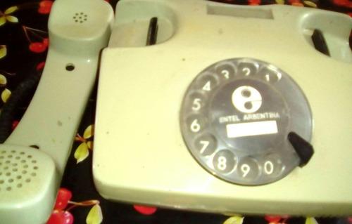 telefono antiguo marcado a disco para adorno reliquia
