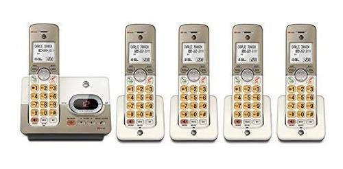telefono at & t el52513 con contestadora + 4 extensiones